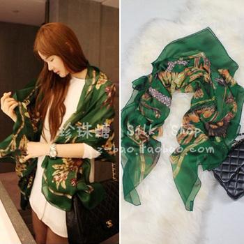 Feather silk large facecloth silk scarf elegant cape sunscreen