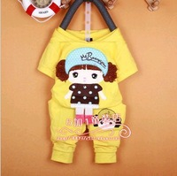 2013 new Korean cute casual T-shirt suit cotton baby girl clothesZJ011