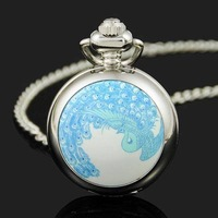 Peacock  Pocket Watch Best Gift