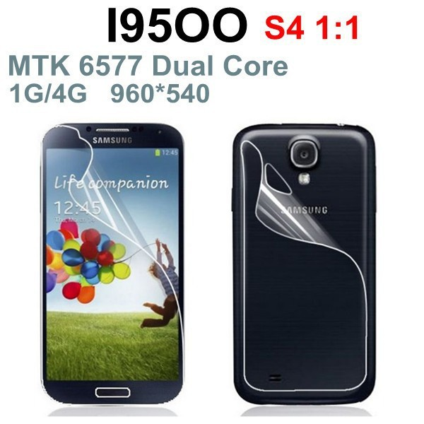 Free HK Post!Perfect clone 100% same Galaxy S4 I9500 dual core 3G phone MTK6577 1GB/4GB 8MP Single SIM Original logo with gifts(China (Mainland))