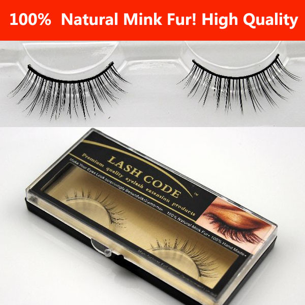 Wholesale! 5PCS/LOT Fashion Popular Natural Mink Hair handmade natural false eyelashes rmz07 LENGTH MINK EYELASH,FREE SHIPPING(China (Mainland))