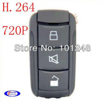 Free Shipping 720P H.264 Ultra-High Definition Burglar Alarm Remote Control,car key camera,car key video avp009 v19