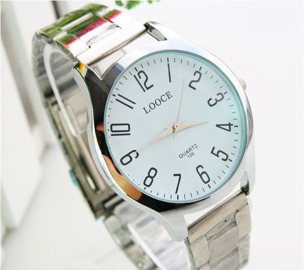 Sales promotion!Men electron Steel band watches 100%The fine quality free shipping(China (Mainland))