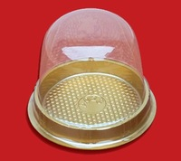 Free Shipping PVC Cupcake pack boxes Bakery Muffin Holder Bake cup Cases 100pcs/lot golden base