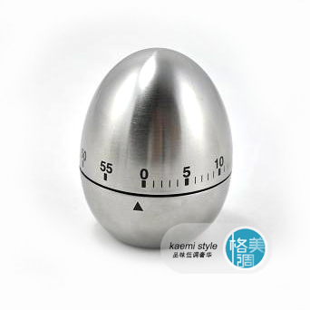 Stainless steel egg shape timer kitchen timer reminder stainless steel(China (Mainland))