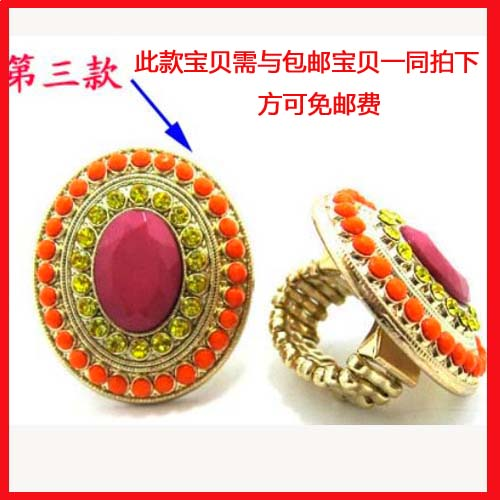 Accessories bling rhinestone resin ring fashion popular ring finger ring(China (Mainland))