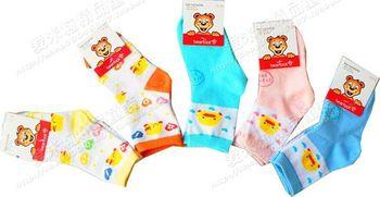 Boneless children socks yellow duck baby child male female child 100% cotton 100% cotton cartoon spring and autumn socks