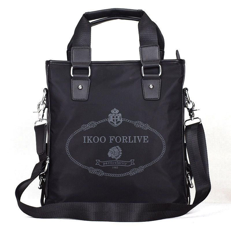 Free shipping 2013 black oxford fabric finelines Men one shoulder man handbag business a 4 paper bag(China (Mainland))