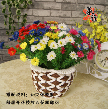 Chrysanthemum artificial flower silk flower artificial flower decoration flower decoration daisied  Wholesale