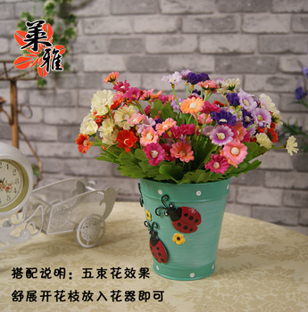 24 daisied chrysanthemum artificial flower silk flower artificial flower decoration flower set  Wholesale