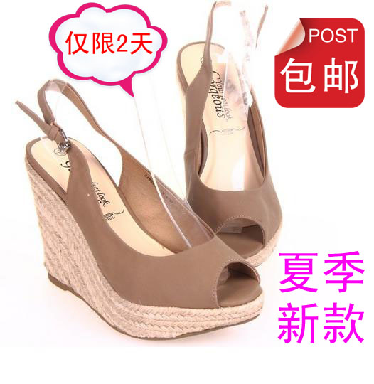 2013 twiner shoes platform ultra high heels open toe wedges sandals plus size women's shoes(China (Mainland))