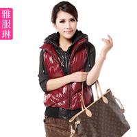 Fashion vest women's plus size cotton down vest female thickening hooded cotton vest