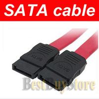 Free Shipping ( 100 piece / lot ) New 7 Pin SATA to SATA Serial ATA Data Cable for HDD Disk