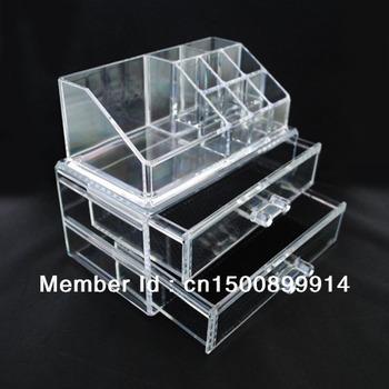 Wholesale Fashion Acrylic Makeup Organizer Jewelry Display Stand Birthday Gift Box SF -1063 DHL/Fedex/UPS Free Shipping