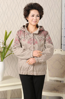 Middle-age women 2013 brand spring and autumn outerwear quinquagenarian trench women's elegant mother clothing plus size top
