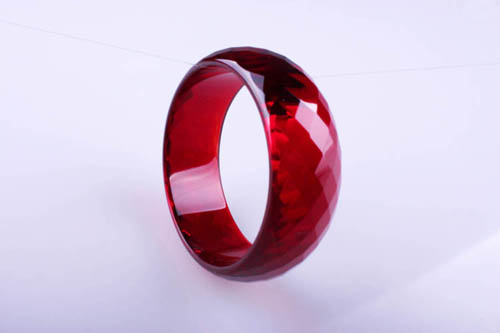 Free shipping Hot Wine red crystal bracelet ultralarge women's bracelet(China (Mainland))
