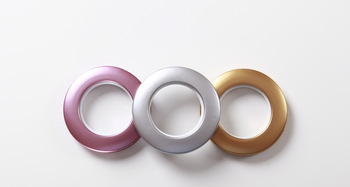 Nano mute roman ring abs material curtain hole-digging circle buckle