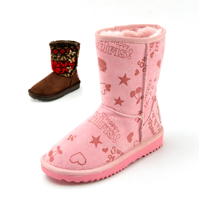 2012 BOB DOG medium-large female child snow boots child thermal cotton-padded shoes at home shoes(China (Mainland))