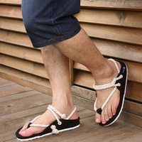 Male  lovers  hemp rope sandals summer  personalized
