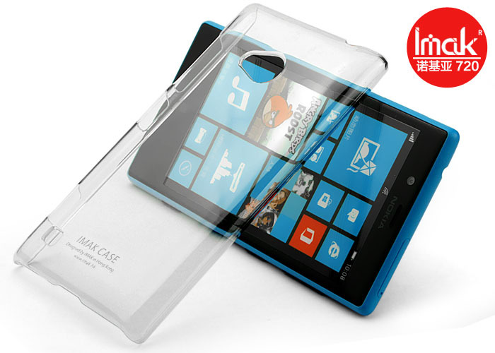 20pcs/lot NEW! iMak ultra Thin hard Crystal Case for Lumia 720,imak clear Case for nokia 720 with retail box(China (Mainland))