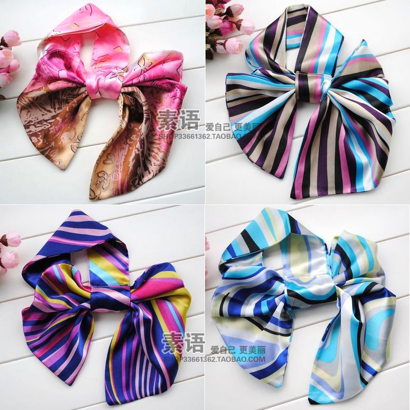Magicaf silk scarf magic silk scarf general stripe work wear small facecloth female 49 - 72(China (Mainland))