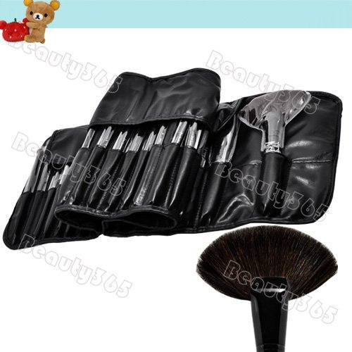 Professional 32pcs Cosmetic Makeup Brush Set / Makeup Brushes With Black Holder Bag 825(China (Mainland))