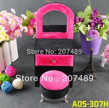 mini furniture dresser velvet jewellery box case organizer storage display for earring ring necklace for gift wedding lover