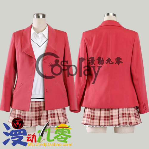 Cosplay clothes black winter w school uniform(China (Mainland))