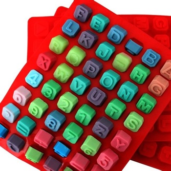 Silicone Alphabet Letter Soap Mold Christmas Chocolate Jelly Candy Cube Mould
