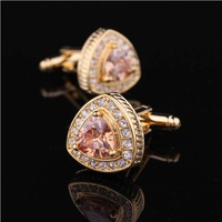 Men's fashion cufflinks AAA  crystal cuff links cuff nail  with BOX free shipping