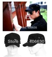 Trendy rivet men's millitary cap spring summer sun visor hat military hats for men cadet berets free shipping