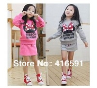 5sets/lot new autumn baby cute cartoon suit girls leisure +  sports clothes set children clothing free shipping