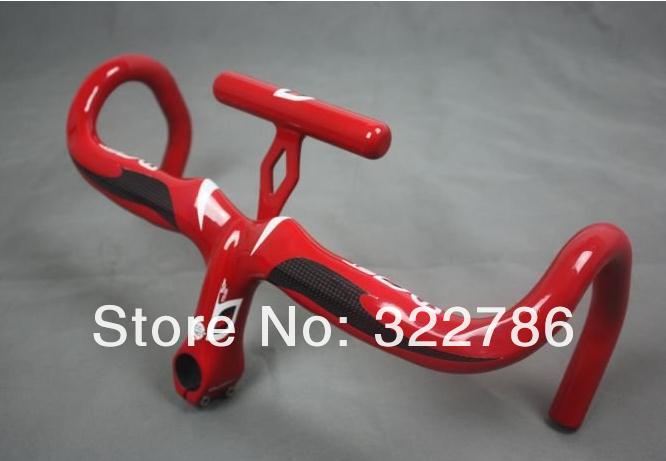 Wholesales MOST TALON Full carbon fiber road Integrated handlebar /bike road handlebar red color can accept all size(China (Mainland))