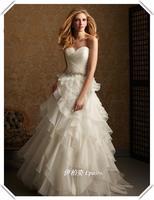 Top wedding dress fashion pleated organza wedding dress