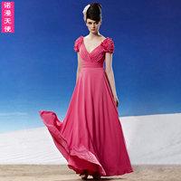 Sweet fashion 28190 V-neck beads flower bag the bride wedding dress formal dress dinner