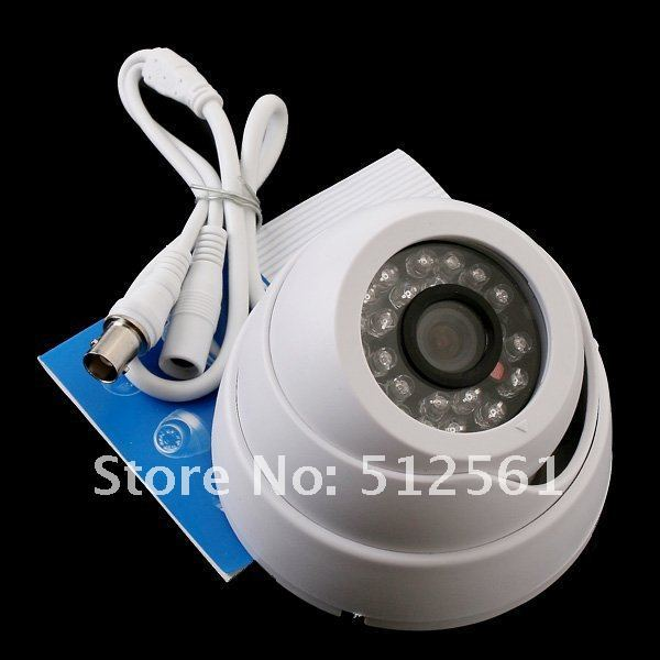 White 380TVL Indoor IR Security Surveillance CCTV IP Camera 1/3 CMOS PAL(China (Mainland))