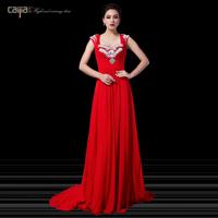 Fashion rhinestone double-shoulder luxury long design star evening dress bridal evening dress full dress