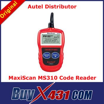 [Autel Distributor]5pcs/lot Original Autel MaxiScan MS310 OBD2 Code Reader Auto Diagnostic Scanner Tool + DHL Free 3-5 Days