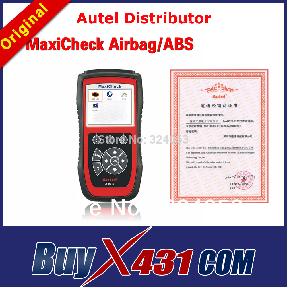 [Autel Distributor]Autel MaxiCheck Airbag/ABS Resetting Service OBD2 Scanner Airbag Light Reset Tool + DHL Free 3-5 Days(China (Mainland))
