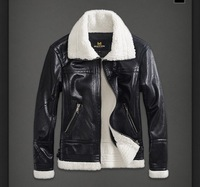 Free shipping 2013 The new men's Slim leather zipper jacket men's jackets youth leisure flight M-2XL