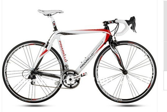 New 2010 Pinarello FP2 Carbon White Red Complete Bike 44, 47(China (Mainland))