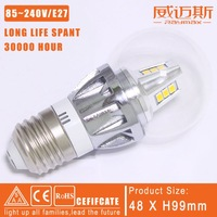 Free Shiping wholesale 12pcs/lot   4W E27 Warm /Cool white LED candle bulb light  glass cover LED lighting  RM-AP-03