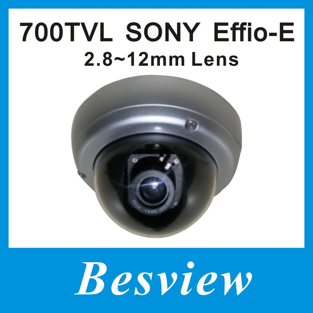 "1/3""SONY Effio-E 700TVL with beautiful color image Vandal-proof IR Dome security camera(China (Mainland))"