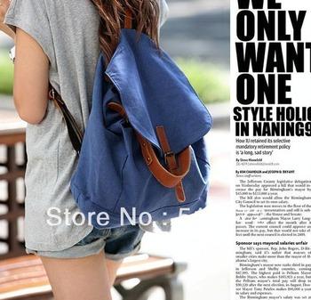 Best Selling!!New Korean Lady Canvas Backpack Girl's Leisure Handbag School bags Free Shipping
