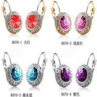 CZ drill earring fashion earring for girl  wedding earrings crystal earring chandelier jewelry wholesale free shipping