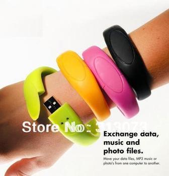Free shipping 2GB 4GB 8GB 16GB 32GB 64GB Promotion Wristlet usb flash drive