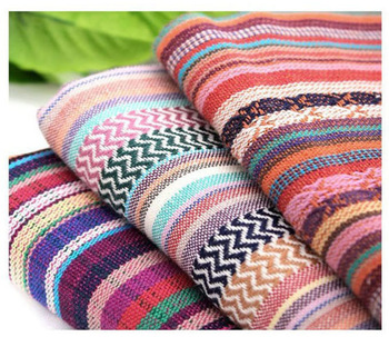 SPECIAL OFFER BOHO CHIC Colorful stripe soft linen in 3 designs,Vintage Feel ,45cm*146cm.Clothes,table cloth, etc.