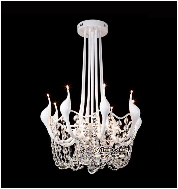 Modern brief white swan ceiling lamp free shipping MD8820(China (Mainland))