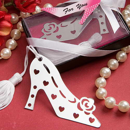 40pcs/lot Free Shipping High Heels Shape Bookmark Promotion Antique Silver Fashion Bookmarks Wholesale LI13052204(China (Mainland))