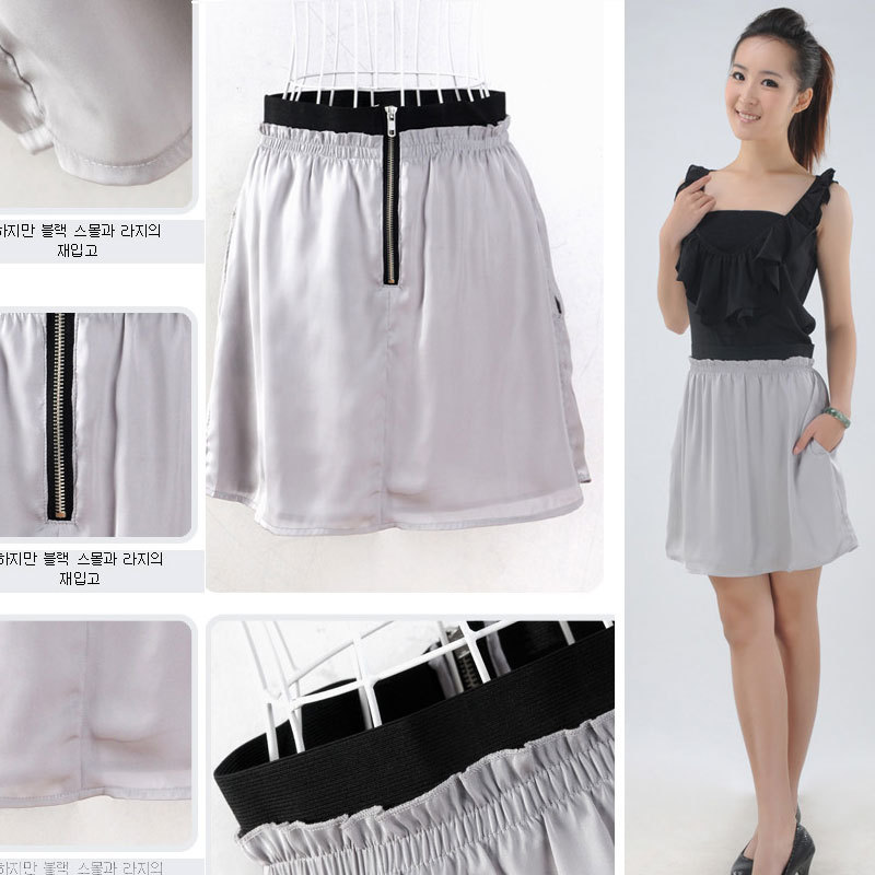 Free shipping women's clothing 2013 spring bust skirt women short skirt holidaying skirt chiffon skirt fashion(China (Mainland))